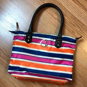 C Wonder Striped Nylon Tote Bag